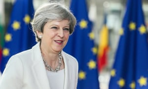 Theresa May at European council summit on Thursday where she made what she described as a 'fair and generous' offer to EU citizens.