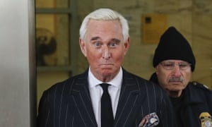 Roger Stone leaves federal court in Washington on 1 February.