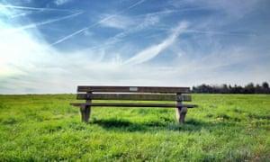 A memorial bench