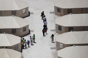 A tent encampment in Tornillo, Texas, to house immigrant children.