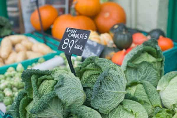 Fruit and vegetables on sale in Fakenham, Norfolk