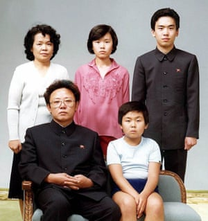 Kim Jong-il poses Kim Jong-nam and other relatives in Pyongyang in August 1981.