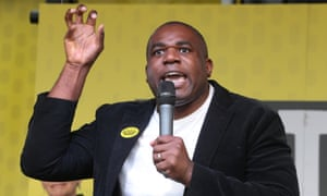 Labour MP David Lammy at the People's March Against Brexit Vote on Satruday