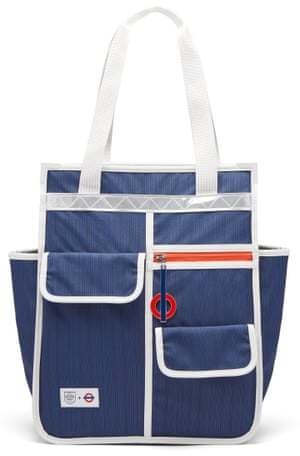 Blue handlebar bag