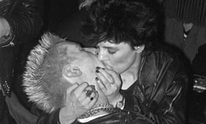A passionate moment at Gossips in Soho, 1978