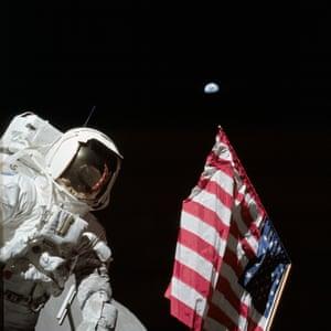 Gene Cernan's photograph of lunar module pilot and geologist Harrison Schmitt, December 1972