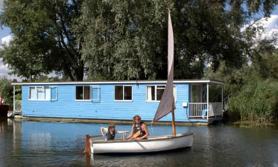 The Coot Club, floating cabin at Hipperson's, Beccles, Suffolk.