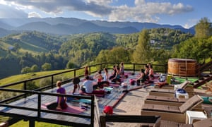 Vista with vinyasa … the view from the Akasha Wellness Retreat in Transylvania