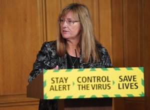 Sarah Albon, chief executive of the Health and Safety Executive at the press conference.