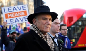 Vince Cable outside the Palace of Westminster in London