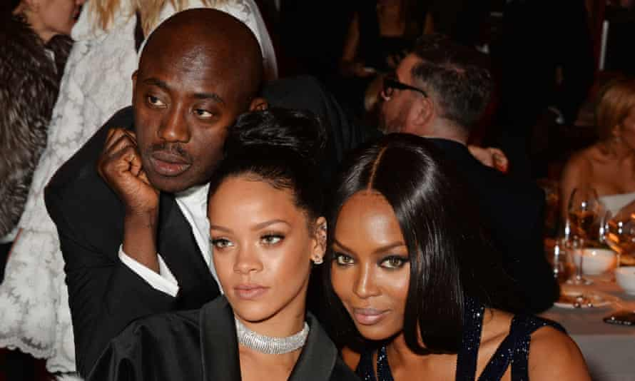 Cultural icons, speaking for change and representation in the industry: Edward Enninful, Rihanna and Naomi Campbell at the 2014 British Fashion Awards.