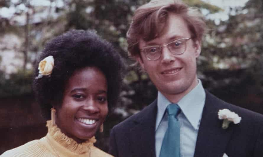 Simon Quin and his wife, Abena, at their wedding in 1972