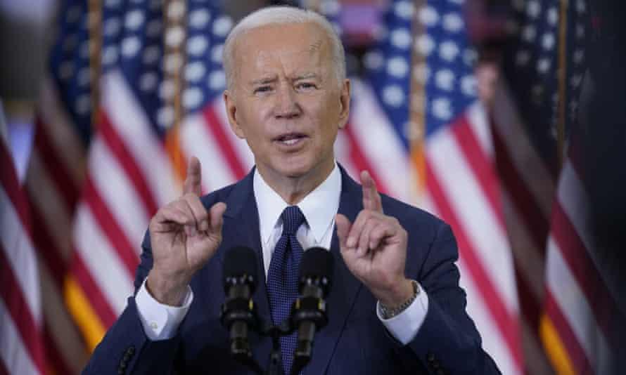 Joe Biden speaking in Pittsburgh last week.