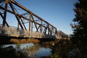 A railway bridge that crosses the Macleay River in Kempsey