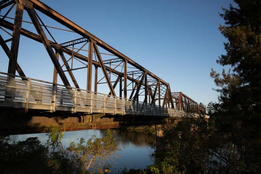 A railway bridge that crosses the Macleay River in Kempsey