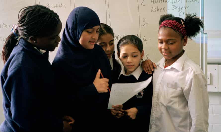Pupils at Millfields Community school, London.