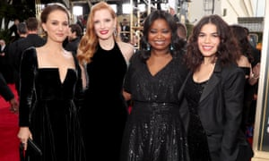 Actors wear black at this year's Golden Globe awards in support of women.