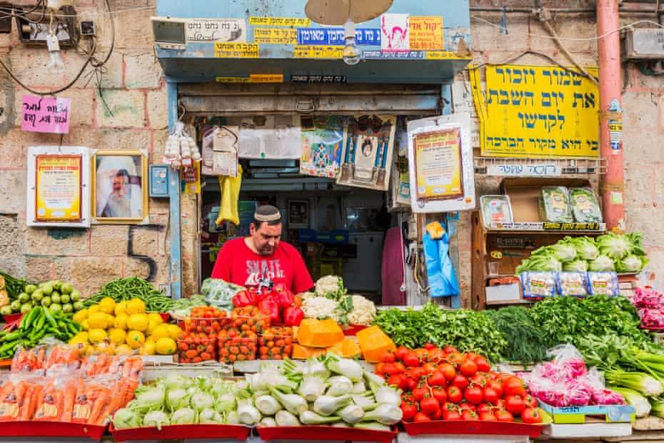 New City, Mahane Yehuda Market, a greengrocerIsrael, Jerusalem .