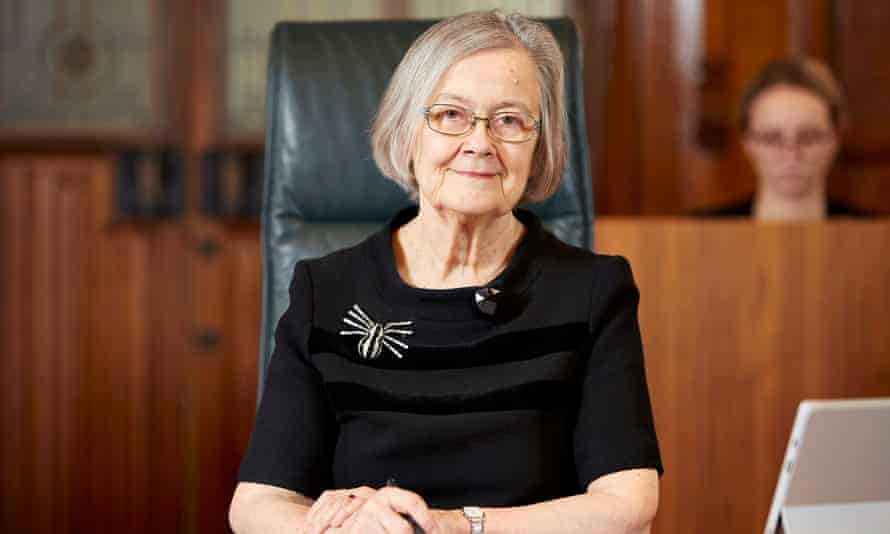 Lady Hale, the president of the supreme court