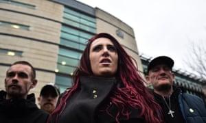 Britain First deputy leader Jayda Fransen outside a  Belfast court