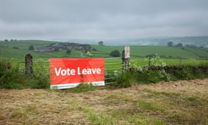 A Vote Leave sign in Derbyshire