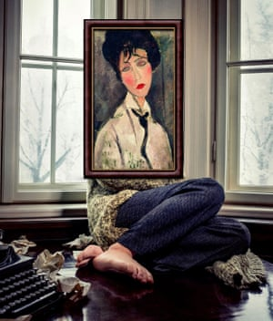 Woman in Black Tie by Amedeo Modigliani photographed by Michael Thibault