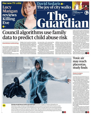 The Guardian front page 170918