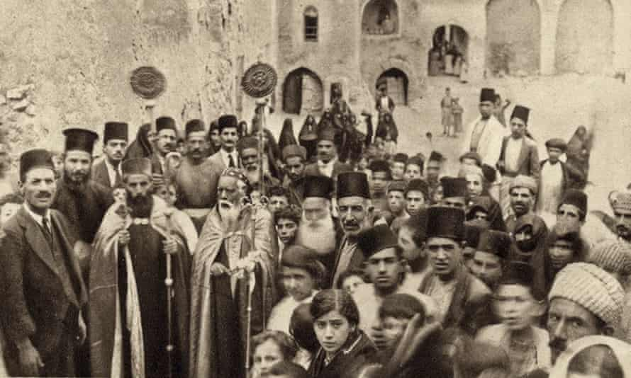 A 1920s photo shows a ceremony at the monastery, where a Christian community thrived for centuries.