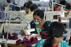 Women at work in a Bangladeshi garment factory