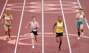 ParalympicsGB's Sophie Hahn (second left) pipped Colombia's Darian Faisury Jimenez Sanchez on the line in the women's T38 100m final.