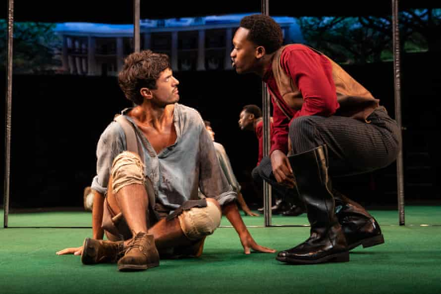 James Cusati-Moyer and Ato Blankson-Wood in Jeremy O Harris's Slave Play.