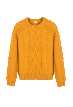 Yellow chunky jumper