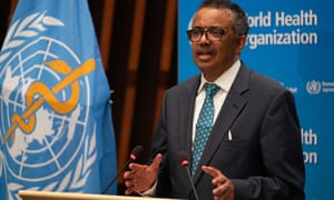 World Health Organization Director-General Tedros Adhanom Ghebreyesus speaks at the 73rd World Health Assembly at the WHO headquarters in Geneva, Switzerland, 18 May 2020.