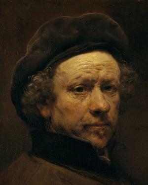 Rembrandt van Rijn, a self-portrait.