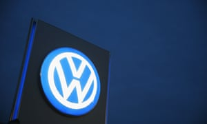 Illuminated Volkswagen sign