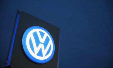 Illuminated Volkswagen sign