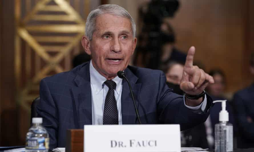 Anthony Fauci, director of the U.S. National Institute of Allergy and Infectious Diseases, speaks during a hearing of the Senate Health, Education, Work and Pensions Committee entitled