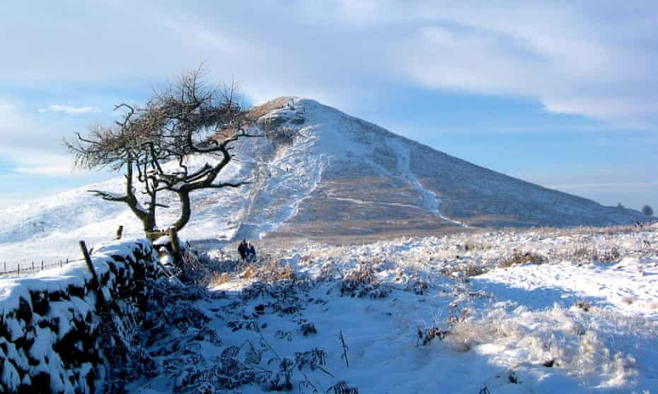 Roseberry Topping in North Yorkshire taken on a snowy winter's day