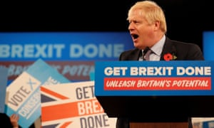 Boris Johnson at the Conservative party general election campaign launch
