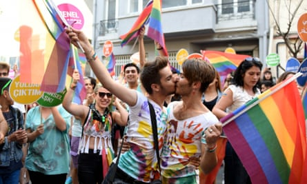 Participants take part in the 13th Gay Pride in Istanbul Parade, Turkey, in 2015.