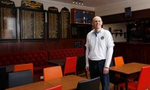 Treasurer Graeme Brown, who helped set up the Hampden bowling club website.