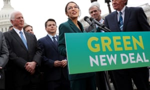 Sanders put forward a Green New Deal with the New York congresswoman Alexandria Ocasio-Cortez.