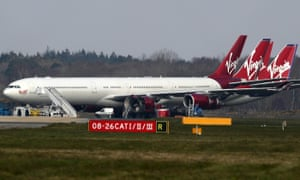 Grounded planes at Bournemouth airport