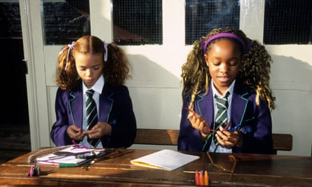 Schoolgirls at east London's Ragged School Museum