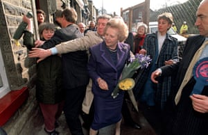 Not a good year for Tory politicians, 1992 also saw Margaret Thatcher set upon, on this occasion by a daffodil-wielding local in Marple Bridge, Stockport, while the former prime minister was on the campaign trail.
