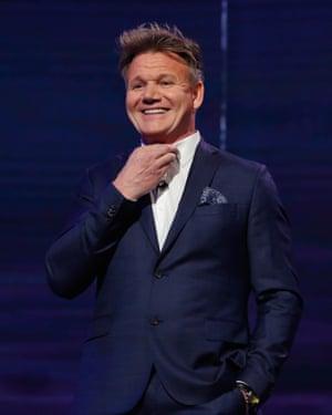 Gordon Ramsay hosting The Nightly Show.