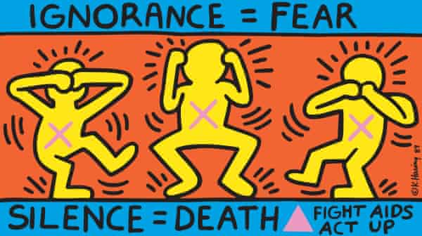 Ignorance = Fear poster, 1989, by Keith Haring