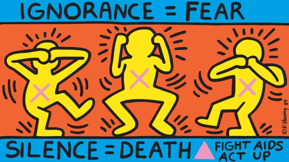 Ignorance = Fear, 1989. Keith Haring