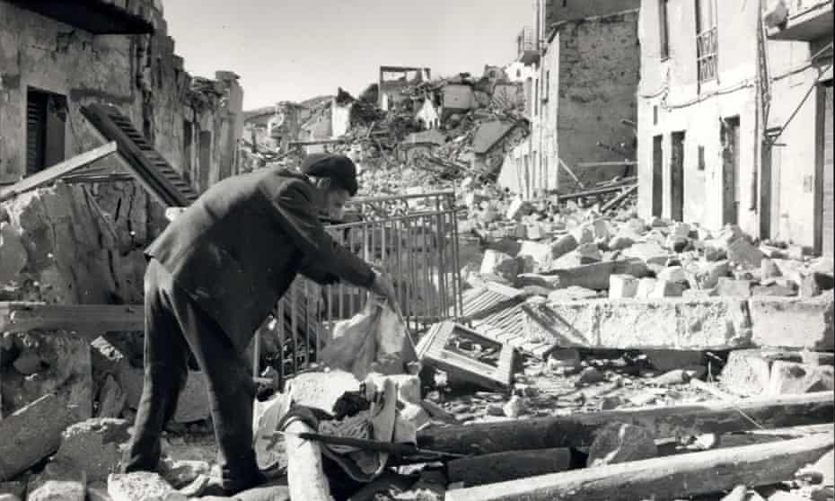 Gibellina, a town close to Salemi, which was destroyed by the earthquake in January 1968.