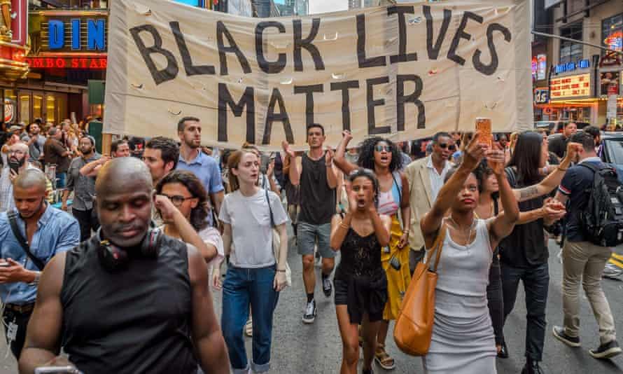 Black Lives Matter march, New York, USA - 07 Jul 2016